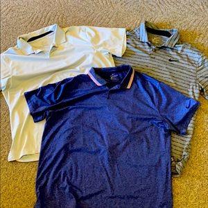 3 Nike golf dri-fit XL Polos